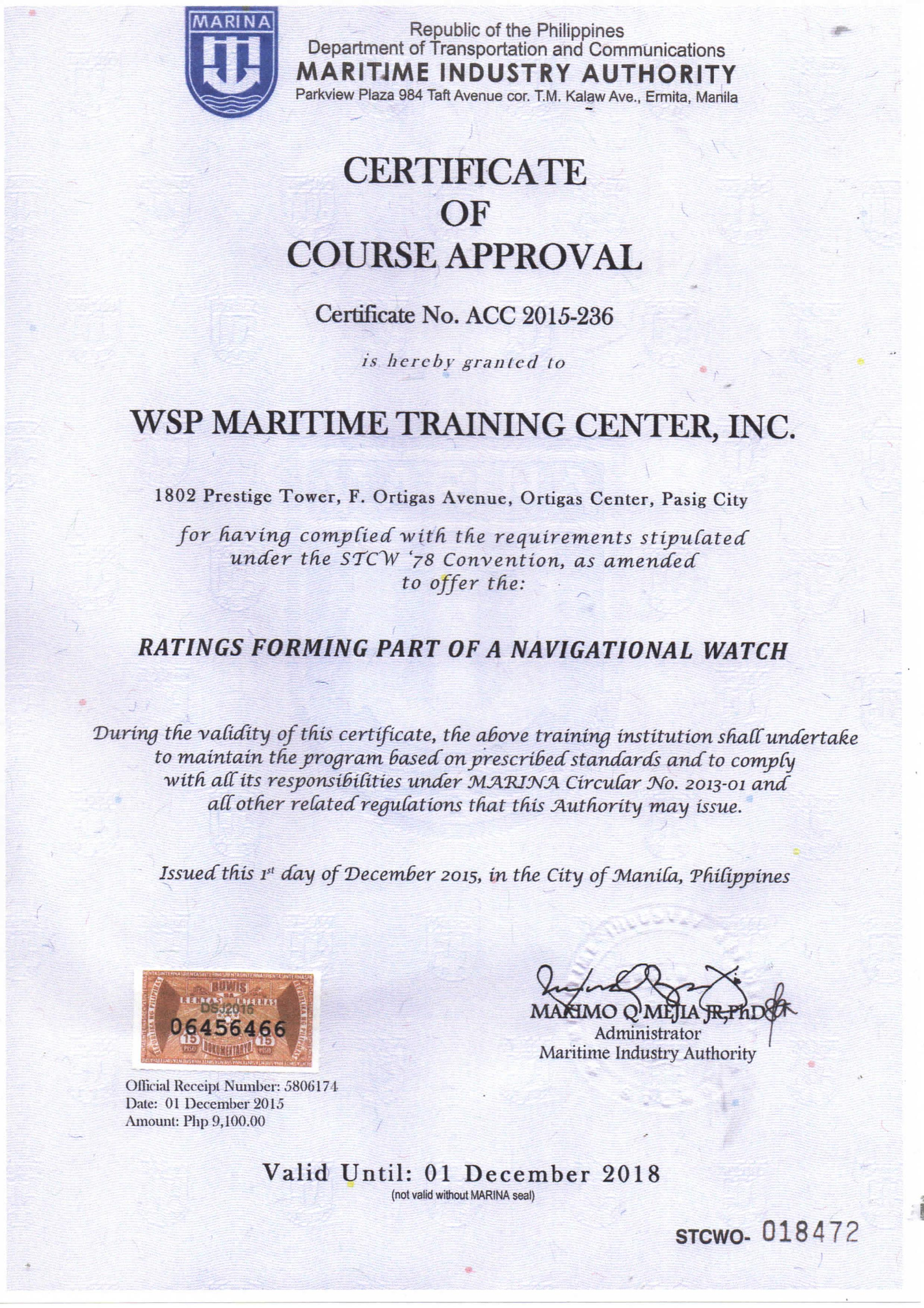 Certification marina accredited courses 1betcityfo Choice Image
