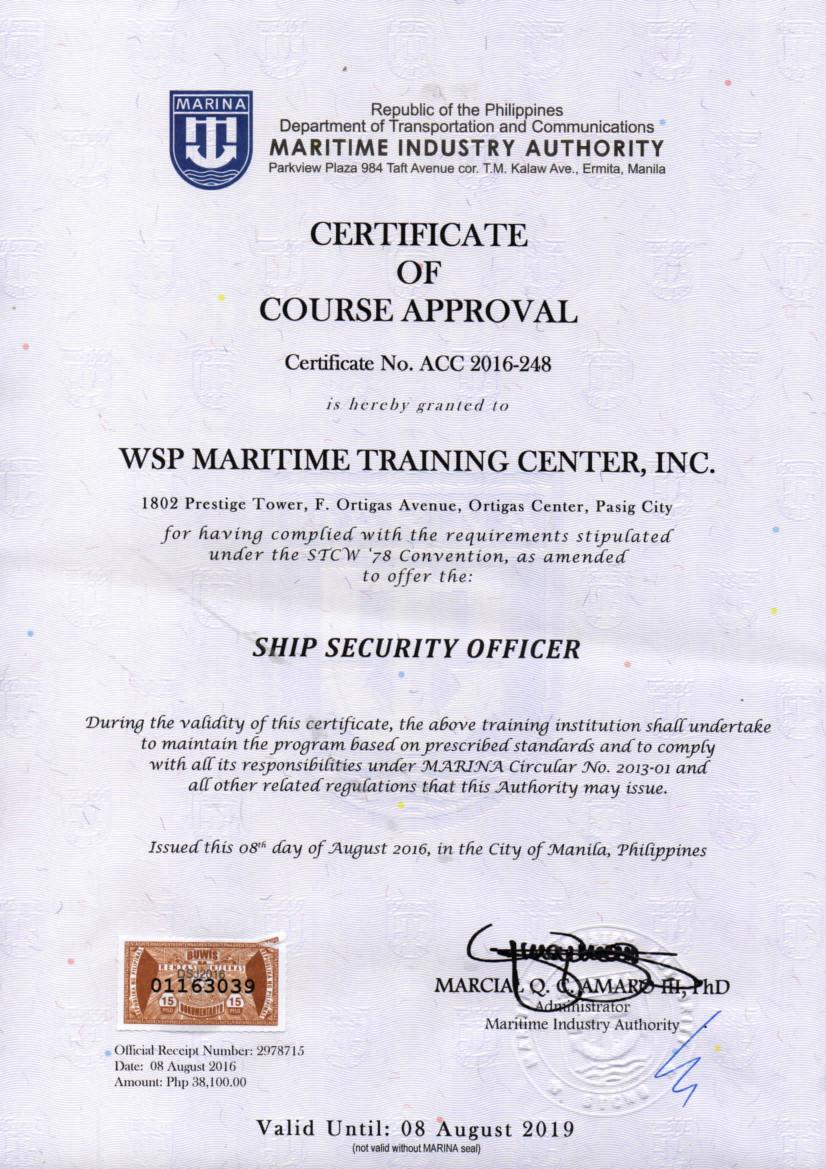 Certification marina accredited courses 1betcityfo Gallery